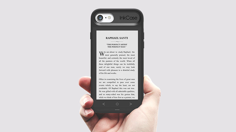 InkCase i7 iPhone 7 phone case E Ink reader