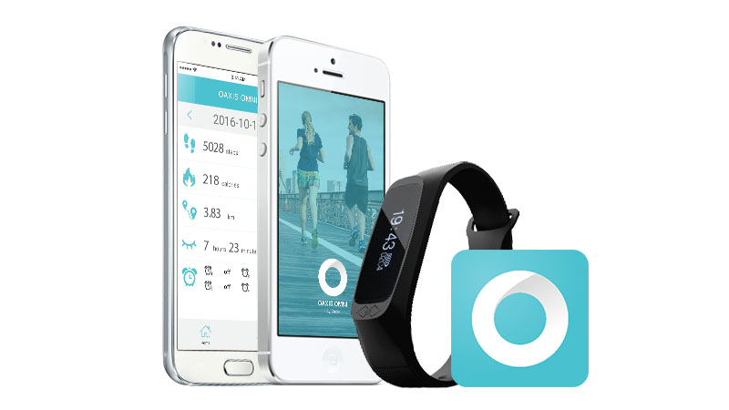 omniband+ fitness band with ios and android app